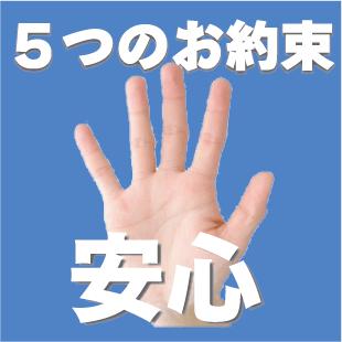 当院からみなさまへ5つのお約束のイメージ